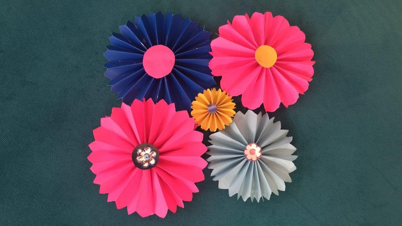 Paper Flowers Diy Youtube