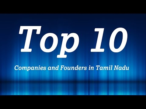 TOP 10 Companies and founders in Tamil Nadu
