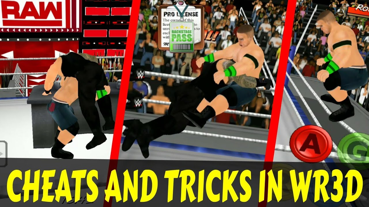 Cheats And Tricks In WR3D/Wrestling Revolution 3D Game