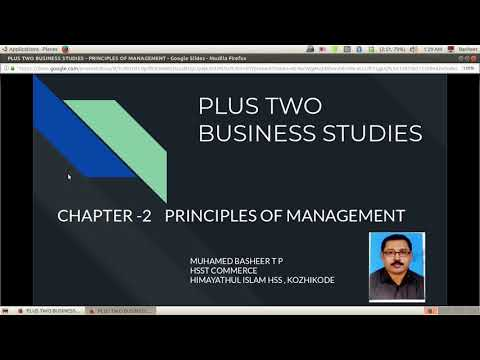 PLUS TWO BUSINESS STUDIES - PRINCIPLES OF MANAGEMENT