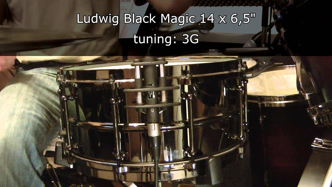 ludwig black magic 14 x 6 5 snare drum tuning range youtube. Black Bedroom Furniture Sets. Home Design Ideas