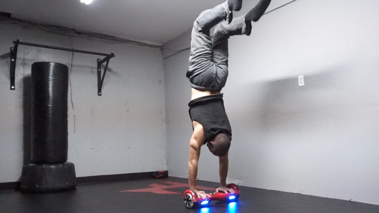 HANDSTAND ON A HOVERBOARD