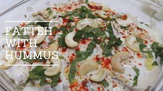 FATTEH with HUMMUS/ Arabic food recipes/ Pita Bread recipes