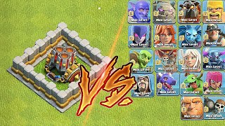 Geared up Max lvl 10 Mortar vs Every Single Troops !