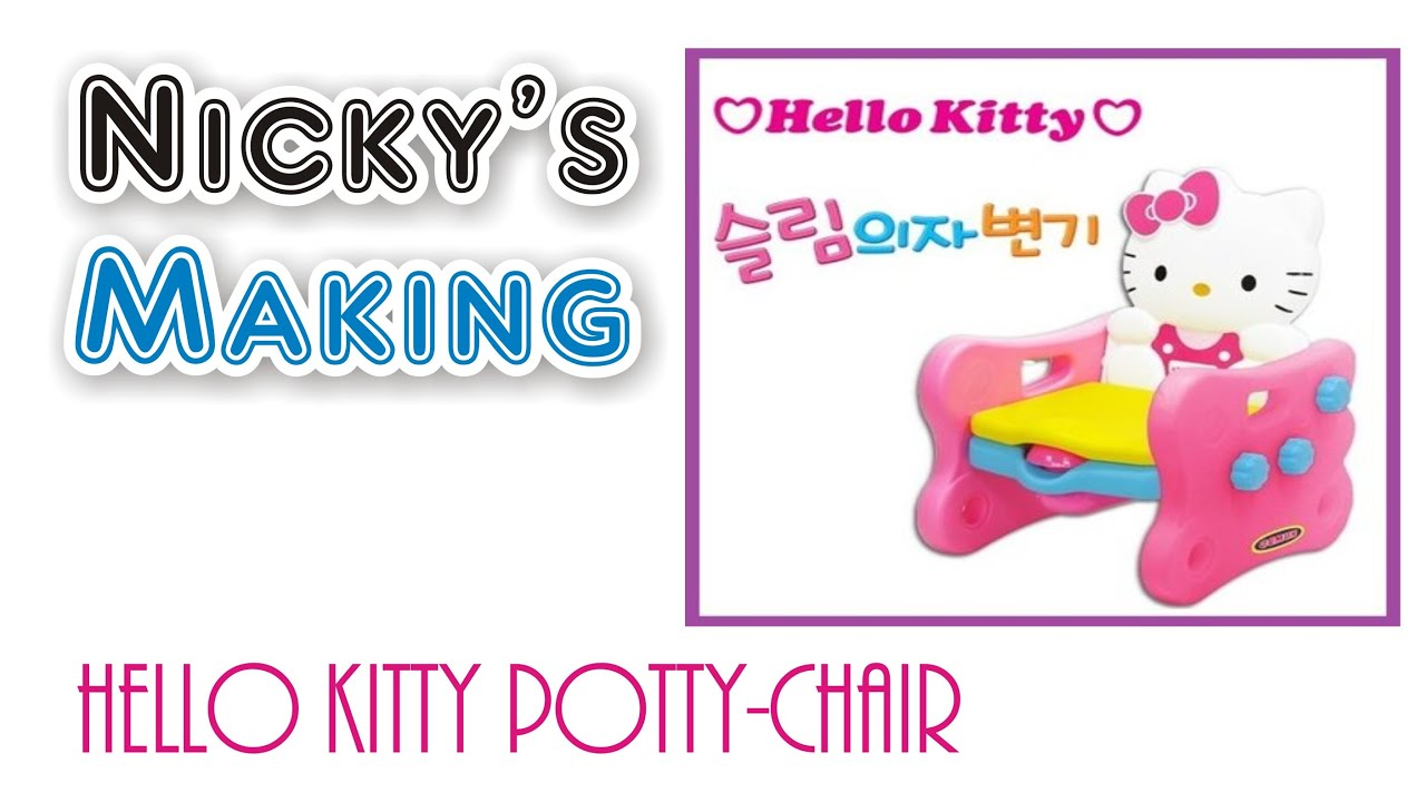 hello kitty potty chair baby shower decoration 헬로키티 유아용 의자변기 youtube