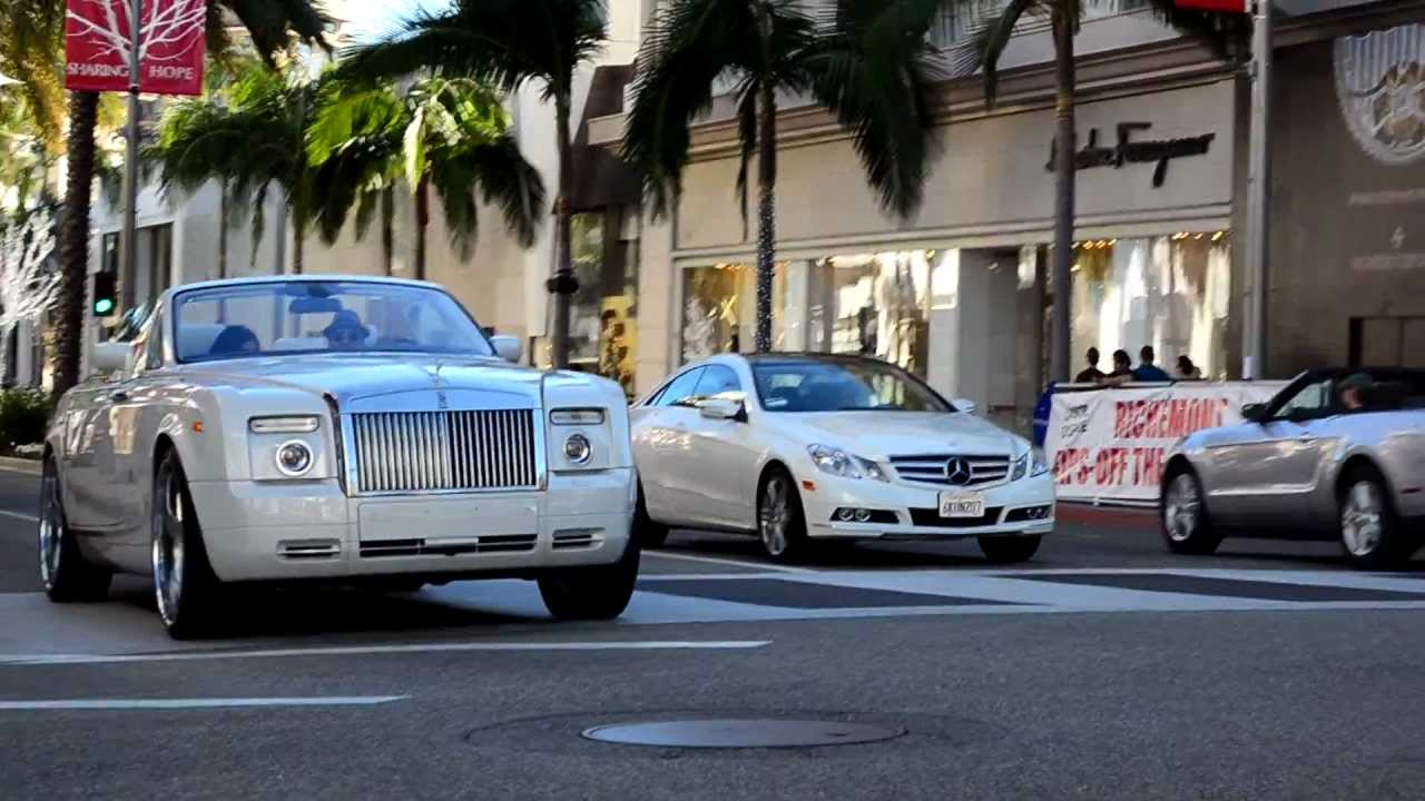 rolls royce phantom drophead rodeo drive beverly hills