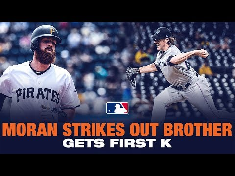Moran strikes out brother for 1st MLB K