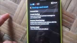 [ TIPS ] Reset Factory Backup & Restore Personal Data On Nokia XL