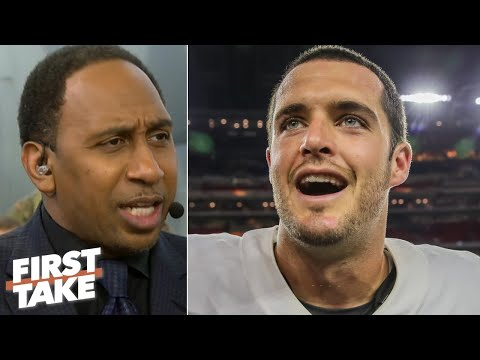 'Let's give some love to Derek Carr' – Stephen A. says the Raiders are an AFC threat | First Take