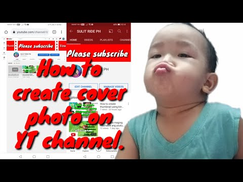How to edit youtube cover photo and upload on your andriod device.   (tagalog) #youtubecoverphoto.