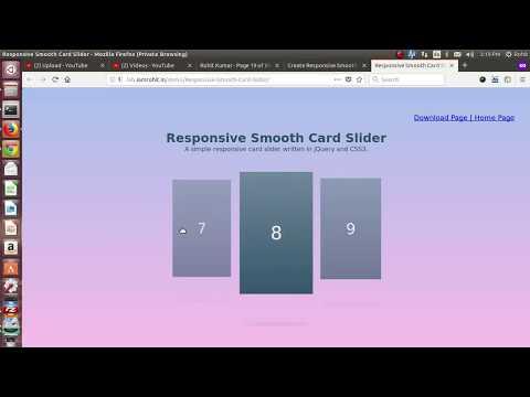 Responsive Smooth Card Slider - demo - YouTube
