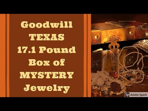 GOODWILL TEXAS 17.1 POUND BOX Of MYSTERY JEWELRY Part #1 Unboxing Unjarring Unpacking Silver? Gold?