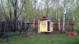 Два дачных дома с бассейном на лесном участке ...