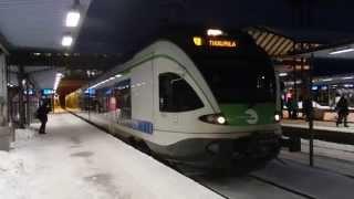 フィンランド国鉄Sm5形 パシラ駅発車 Helsinki Commuter Rail