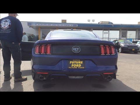 2015 Mustang GT Deep Impact Blue Performance Pack Walkaround