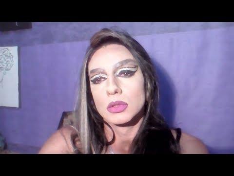 Olho Cat  Drag  com Glitter ,