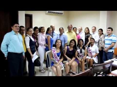 Candidatas a Reina de Santa Rita visitaron GADM Chone
