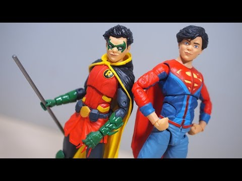 DC Icons SUPER SONS ROBIN and SUPERBOY Figure Review