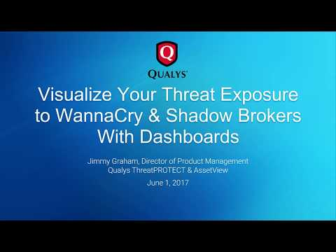 Visualize Your Threat Exposure to WannaCry & Shadow Brokers With Dashboards