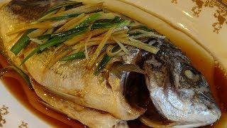 Рыба на пару в китайском стиле. Давайте попробуем...