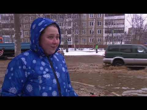 Затопило всю: улица в Заволжском районе превратилась в озеро