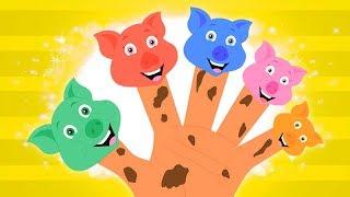 свинья палец семья | Мультфильмы для детей | Pig Finger Family | Nursery Rhymes And Childrens Songs