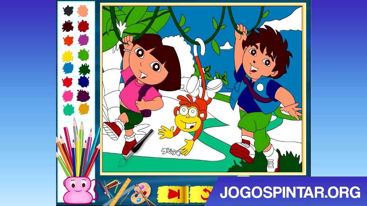Pintar Dora E Diego Na Selva Youtube
