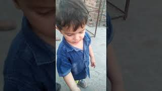 Very, Very Cute Baby talking to his Dad