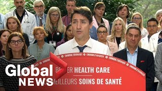 canada election trudeau commits 6b to strengthen canadas public health care system