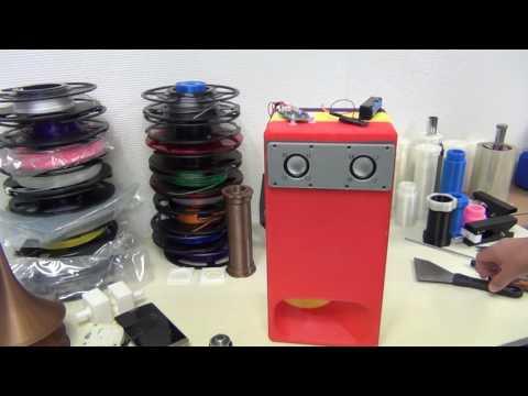 3D printed back load horn speaker by NEXTFILA