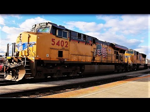 UP Freight Trains In Vancouver, WA - 2-12-17