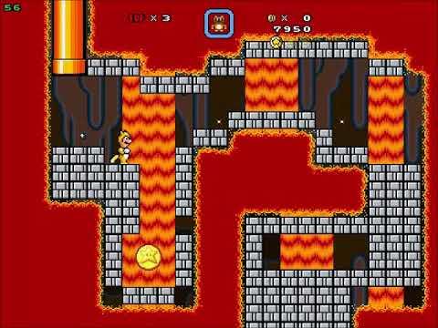 Super Mario Bros X (SMBX 1 4 4) Custom Level: Tanooki And Hammer Volcano