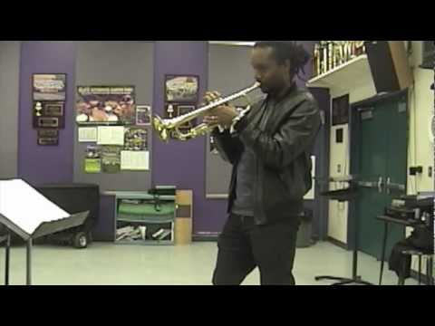 Dontae Winslow Trumpeter @Valencia HS Master Class Clinic Snippet