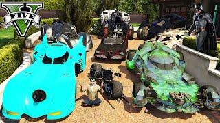 GTA 5 - Stealing Batman All Vehicles With Joker | Micheal Becomes Joker | (Real Life Cars)