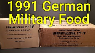 MRE Review German Military Food From 1991 🔴 Oldsmokey Live