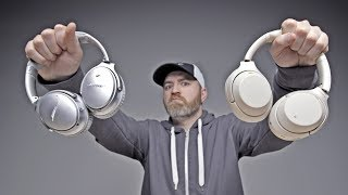 The Best Noise Cancelling Headphones... Bose or Sony? Video