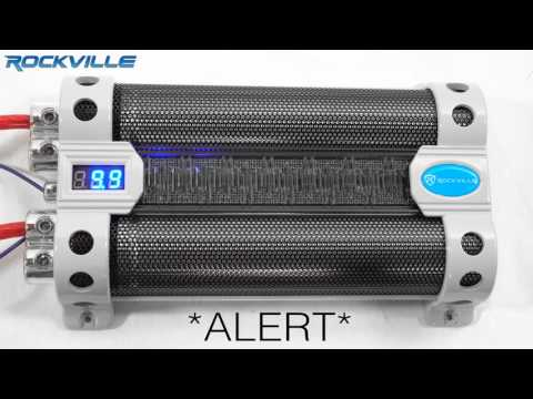 Rockville RFC30F 30 Farad Capacitor Blue Voltage Display