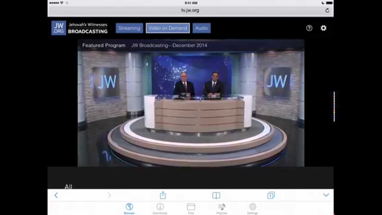 How to Download and Save JW Broadcasting Videos (tv jw org) to your iPad