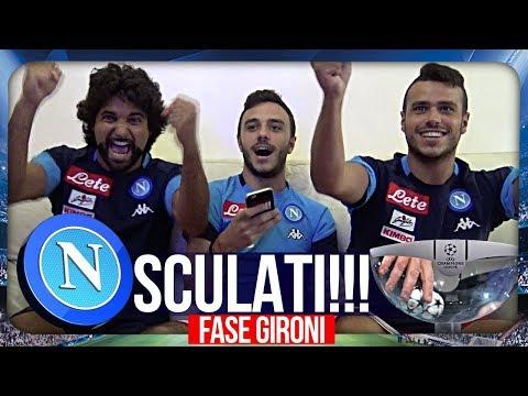 REAZIONE SORTEGGIO GIRONI DEL NAPOLI CHAMPIONS LEAGUE!