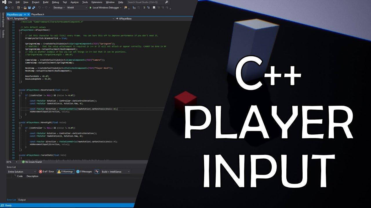 C++ Character Input Implementation UE4 / Unreal Engine 4 C++