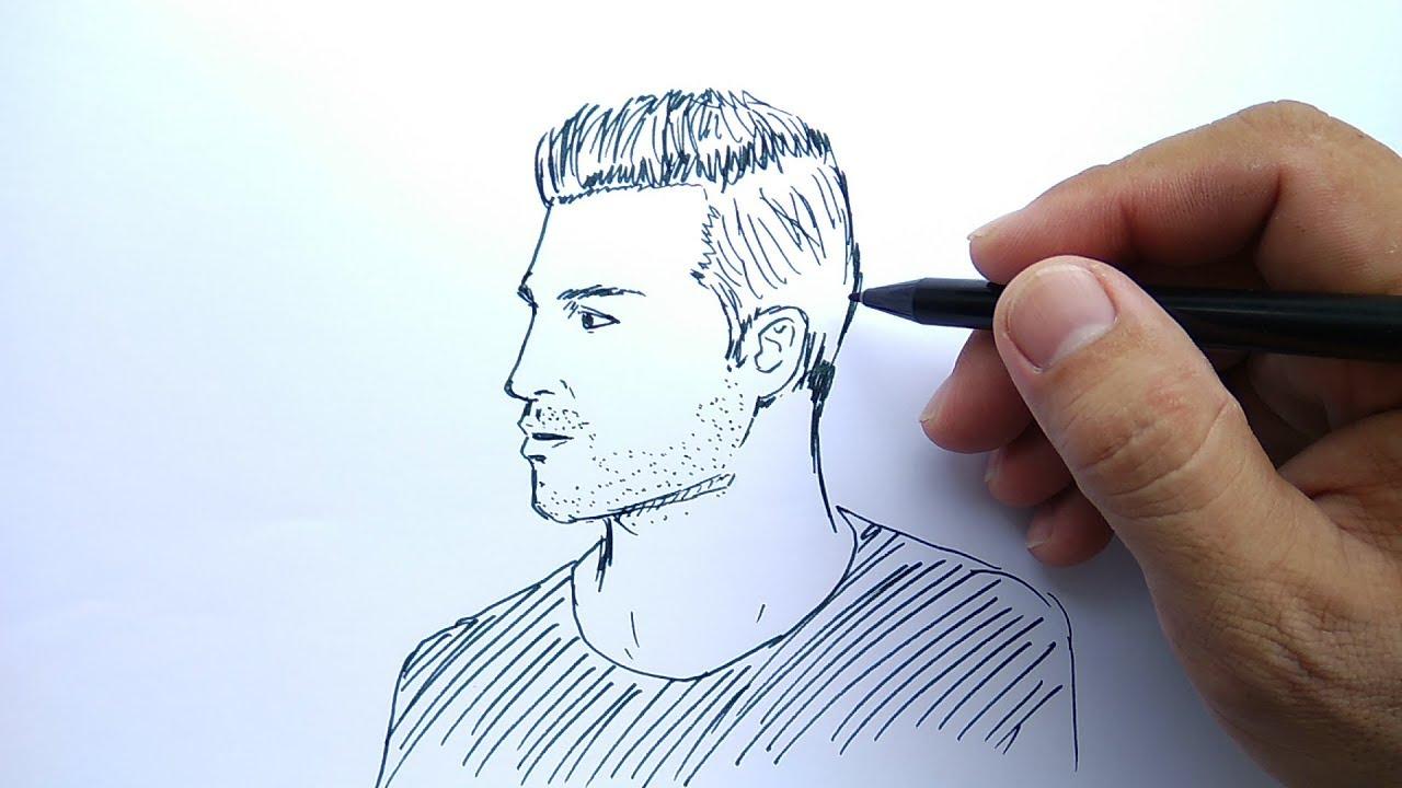 cara menggambar orang cowok ganteng mudah sekali how to