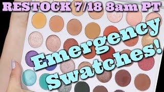 Jaclyn Hill X Morphe Palette Finger/Brush Swatches & Opinions on ALL 35 Shades!