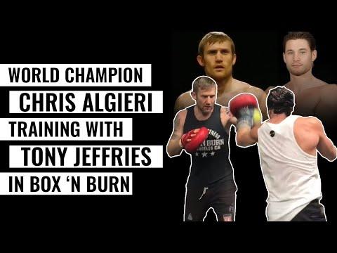 World Champion Chris Algieri training with Tony Jeffries in Box 'N Burn