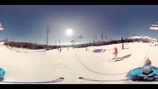 WOOW!!! Панорамное видео 360 градусов! Горные лыжи, сноубординг, сноуборд, экстрим(Больше видео ▻▻▻ https://vk.com/panoramnoevideo360 ◅◅◅ Панорама 360, сферическое VR видео для просмотра в очках виртуально..., 2015-09-06T22:15:12.000Z)