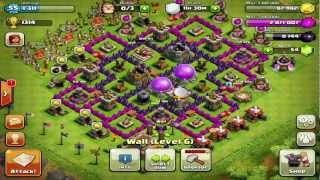 Clash Of Clans : Defensive/Farming Base On Town Hall Level 8 Review (Farming Base)