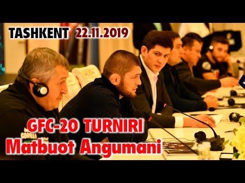 XABIB NURMAGOMEDOV VA GFC -20 TURNIRI MATBUOT ANJUMANI TOSHKENT