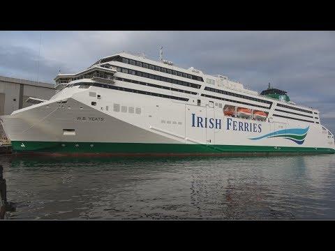 4K | Irish Ferries new W.B.YEATS Ready to Set Sail | FSG Shipyard Flensburg