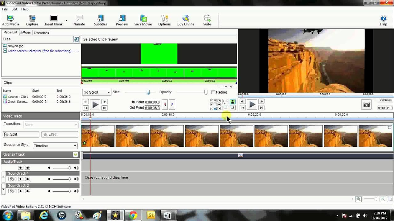 How to use green screen effect with VideoPad Video Editor ...