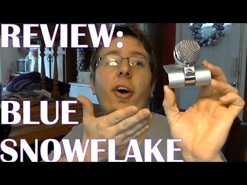 Blue Snowflake USB Microphone | Review + audio compared with Webcam built-in-mic