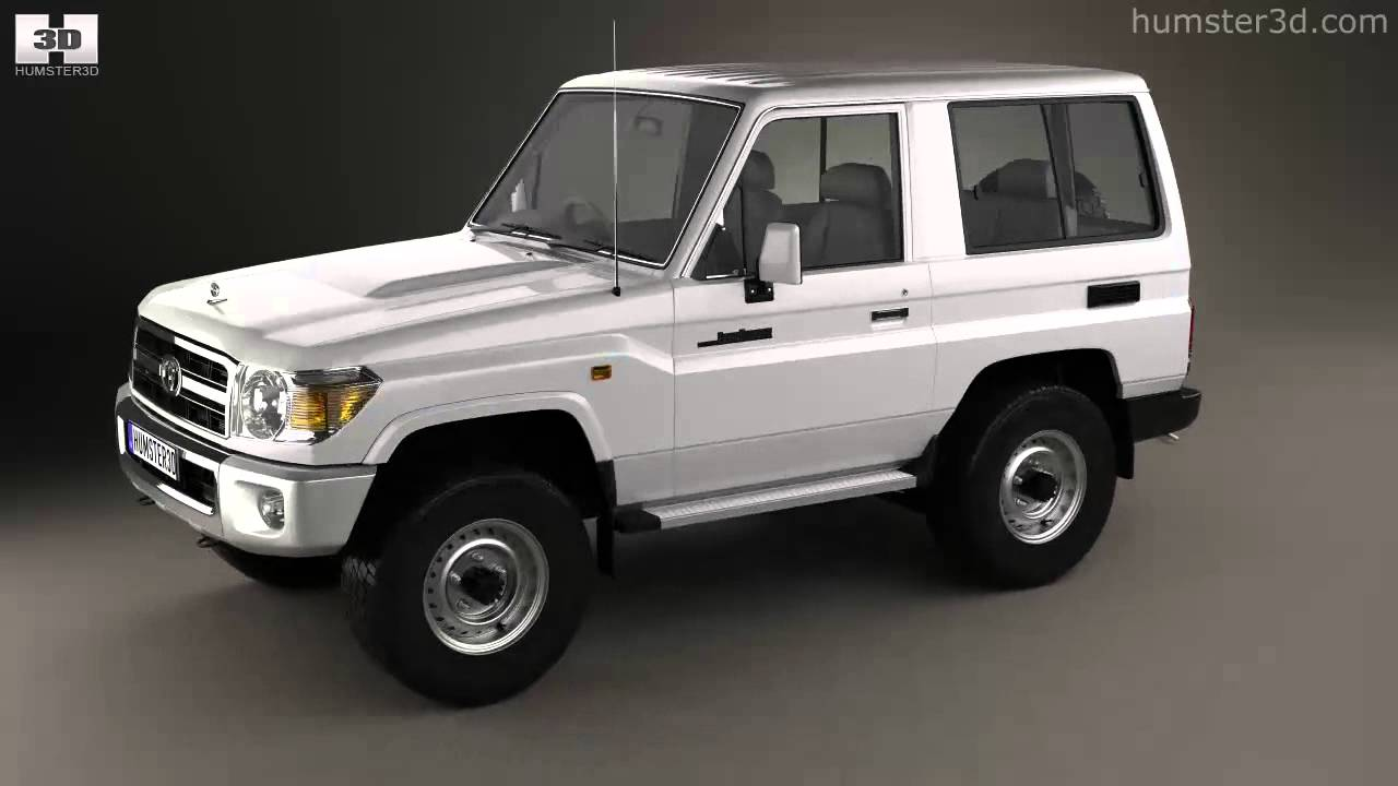 Toyota Land Cruiser J70 >> Toyota Land Cruiser (J71) 3-door 2013 by 3D model store Humster3D.com - YouTube